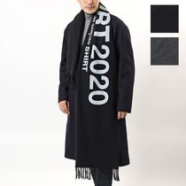 COMME DES GARCONS マフラー W28202 wool cloth on logo print