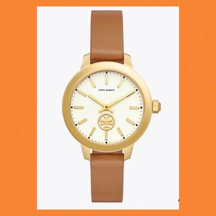 Tory Burch Collins Leather Watch★セール!