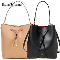 激安価格! Ralph Lauren Debby Leather Drawstring Bag