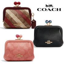 ◆COACH◆nora kisslock card case キスロック カードケース