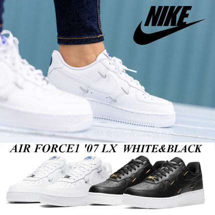 国内発【NIKE】☆WMNS AIR FORCE 1 '07 LX☆CHROME SWOOSHES