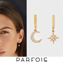 【STAINLESS】Parfois 限定スター&ムーン◆フープピアス◆Gold