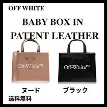 OFF WHITE☆エナメル革のベビーボックスバッグ☆