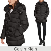 Calvin Klein★Hooded Faux-Fur-Lined Down Puffer ダウンコート