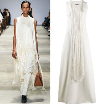 JS044 LOOK34 FRINGED GOWN