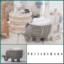 【POTTERY BARN】Elephant Shaped Storage ぞうさん バスケット
