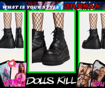 今年の冬はブーツ♪【 DOLLS KILL 】PLATFORM WEDGE BOOTS