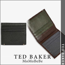 TED BAKER(テッドベーカー) カードケース・名刺入れ 【国内発送・関税込】TED BAKER ロゴエンボスレザーカードケース