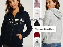 Abercrombie & Fitch(アバクロ) パーカー・フーディ 国内発送&6色★AFロゴ付きジップアップフーディー