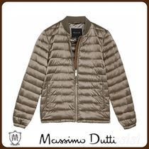 MassimoDutti♪PUFFER BOMBER JACKET WITH SUEDE TRIMS