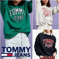 【Tommy Jeans】Collegiate Logo Crew ロゴ入り 長袖 スウェット