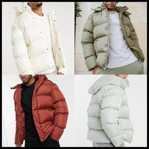 ASOS DESIGN sustainable puffer jacket with detachable hood