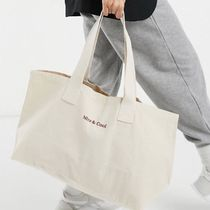 ASOS canvas totebag in natural with 'nice & cool' embroidery