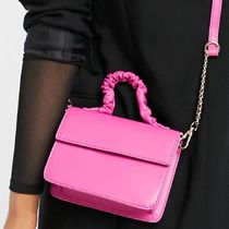 ASOS DESIGN boxy cross body bag with ruched top handle