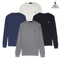 POLO RALPH LAUREN Cotton Waffle Round Neck Knit T-Shirts 7色