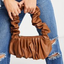 ASOS DESIGN super ruched shoulder bag in brown