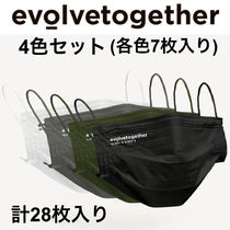 evolvetogether Multicolor 28-Pack Pleated Disposable マスク