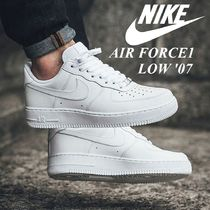 "国内発【NIKE】AIR FORCE1 '07 ""WHITE/WHITE""☆MEN'S"