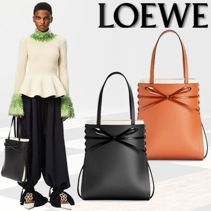 21SS-PRE LOEWEロエベ カーフスキン イケバナ トートバッグ 2色