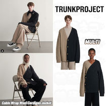 TRUNK PROJECT(トランク プロジェクト) カーディガン ★Trunk Project★Cable Wrap Wool Cardigan Jacket