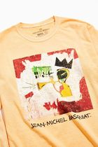 Urban Outfitters(アーバンアウトフィッターズ) Tシャツ・カットソー UO★US限定・関税送料込★バスキア アートロングTシャツ