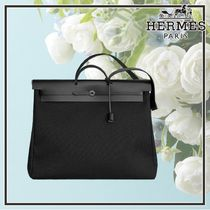 【上品ブラック】エルメス Herbag Zip retourne week-end bag