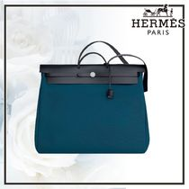 【鮮やかツートン】エルメス Herbag Zip retourne week-end bag