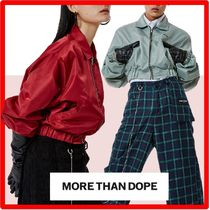 more than dope(モアザンドープ) ブルゾン ☆韓国の人気☆more than dope☆Crop blouso.n☆送料・関税込☆