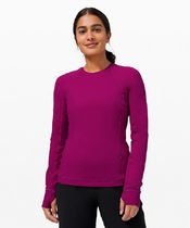 セール!Runderful Long Sleeve Rulu Brushed - Deep Fuschia