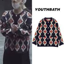 SEVENTEEN Joshua着用★【YOUTHBATH】PIXEL KNITE CARDIGAN