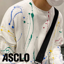 ASCLO Hand Painting Spray Knit (3color)