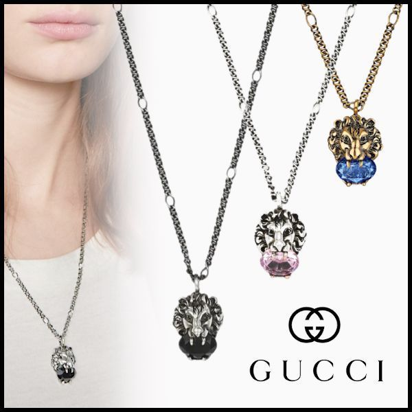 20AW 新作 グッチ ライオンペンダント ネックレス (GUCCI/ネックレス・ペンダント) 412885J1D50