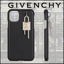 GIVENCHY 4G パッドロック付き iPhone 11 レザーケース PADLOCK