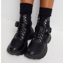 ASOS DESIGN Anderson sporty hiker boots in black