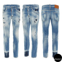 関税込DSQUARED2 2021SS Light 1 Wash Skater Jeans デニム ロゴ