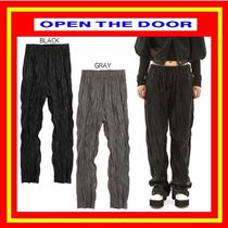 [OPEN THE DOOR]  wrinkle leather pants (2 color) /追跡付