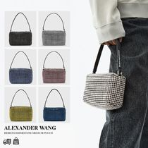 ALEXANDER WANG/HEIRESS RHINESTONE MEDIUM POUCH 関西送料込