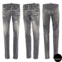 関税込DSQUARED2 2021SS Grey Wash Slim Jeans デニム ロゴ