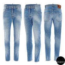 関税込DSQUARED2 2021SS Light & Clean Wash Skater Jeans ロゴ