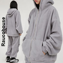 Raucohouse(ラウコハウス)★Soft Warm Textured Hooded Zip-Up
