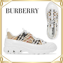 Burberry Vintage Check Cotton & Leather Arthur Sneakers