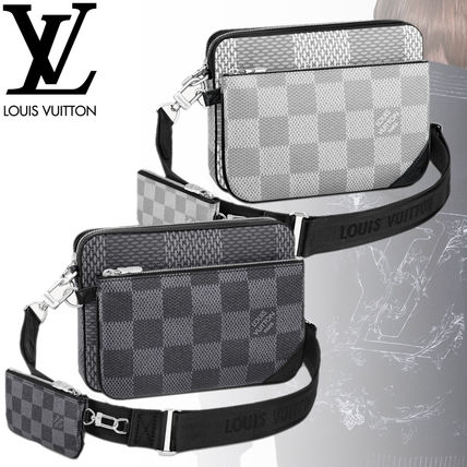 Louis Vuitton ショルダーバッグ 【直営店】ルイヴィトン☆ダミエ グラフィット3D TRIO MESSENGER