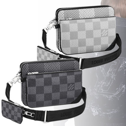 Louis Vuitton ショルダーバッグ 【直営店】ルイヴィトン☆ダミエ グラフィット3D TRIO MESSENGER(2)