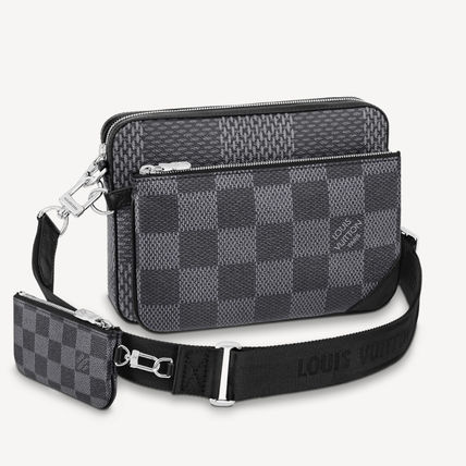 Louis Vuitton ショルダーバッグ 【直営店】ルイヴィトン☆ダミエ グラフィット3D TRIO MESSENGER(9)