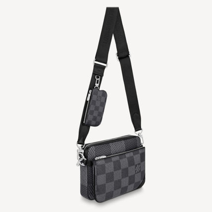 Louis Vuitton ショルダーバッグ 【直営店】ルイヴィトン☆ダミエ グラフィット3D TRIO MESSENGER(11)