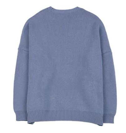 AJO AJOBYAJO ニット・セーター 【AJO AJOBYAJO】★Oversized Slogan Wool Knit Sweater★2色★(3)
