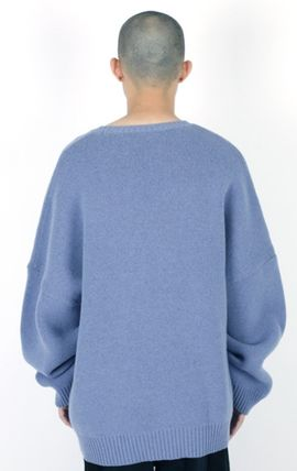 AJO AJOBYAJO ニット・セーター 【AJO AJOBYAJO】★Oversized Slogan Wool Knit Sweater★2色★(7)