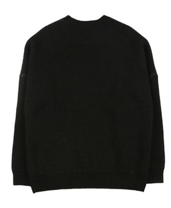 AJO AJOBYAJO ニット・セーター 【AJO AJOBYAJO】★Oversized Slogan Wool Knit Sweater★2色★(12)