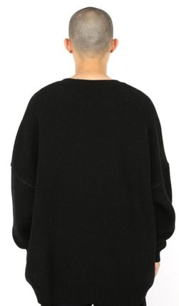 AJO AJOBYAJO ニット・セーター 【AJO AJOBYAJO】★Oversized Slogan Wool Knit Sweater★2色★(16)