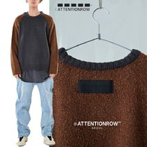 ATTENTIONROW - [UNISEX] Buccle Mix Jan Overfit Wool Nit